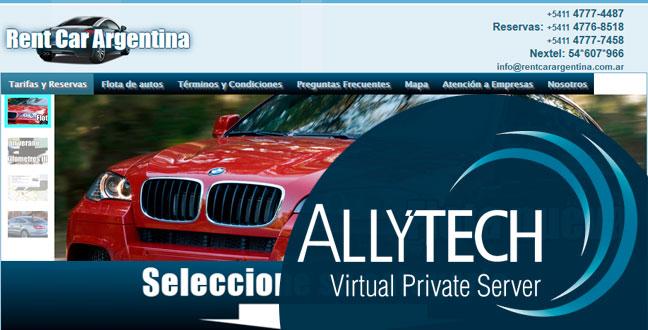 Rent Car Argentina se subió a nuestros VPS
